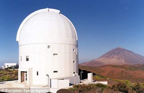 Breakthrough: The observatory in Tenerife at an altitude of 2393 metres from where the asteroid was detected