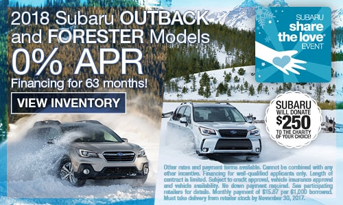 New Subaru Lease & Loan Specials in Madison, WI