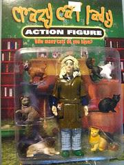 Crazy Cat Lady action figure front