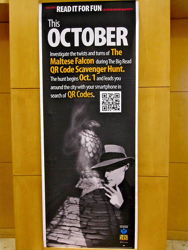 QR Code signage at the library