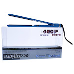 Nano Titanium Ultra Thin Flat Iron - Model BNT3072C - Blue by BaBylissPRO for Unisex - 1 Inch Flat