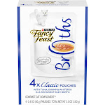 Fancy Feast Broths With Tuna, Shrimp & Whitefish Wet Cat Food Complement Variety Pack, 1.4 oz., Count of 4