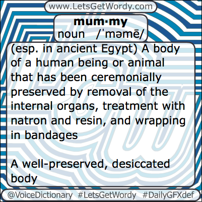 Mummy 02/16/2013 GFX Definition of the Day