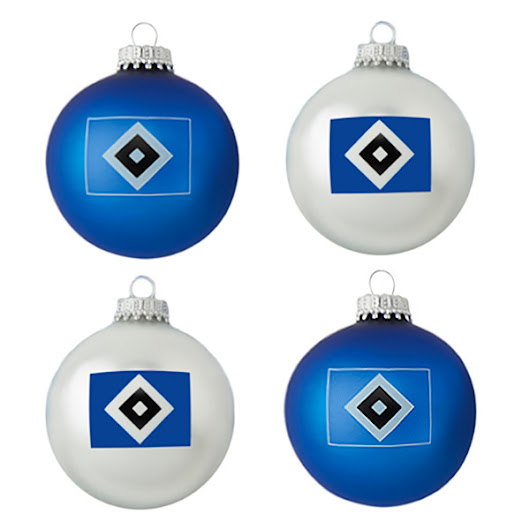 HSV Christbaumkugeln 4er-Set