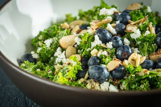 Blueberry, Kale and Quinoa Salad | Home Sweet Jones