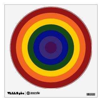 Rainbow Bullseye Wall Graphics