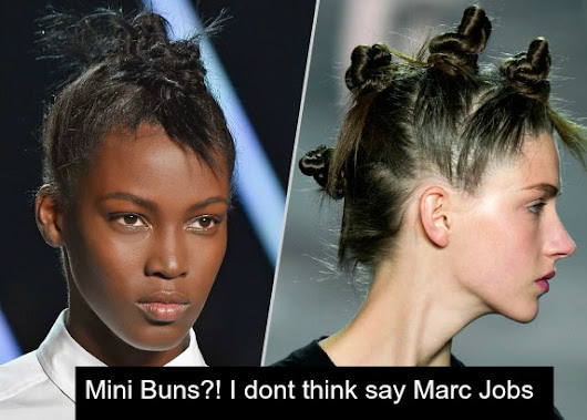 Mini Buns?! I dont think so Marc Jacobs | Global Couture Blog