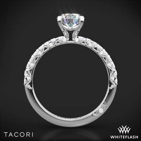 Tacori Classic Crescent Scalloped Millgrain Diamond