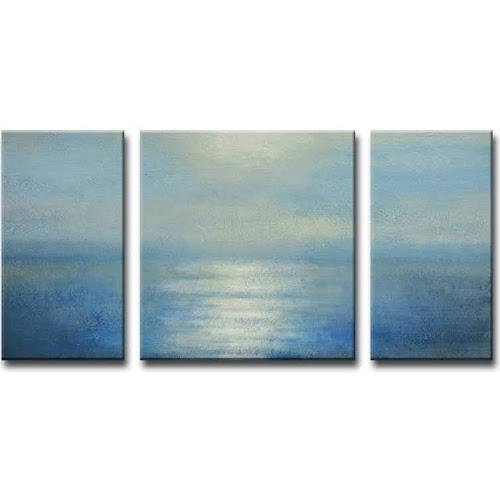 Google Express - Ready2HangArt Coastal Sunrise Canvas Wall Art - 3 ...