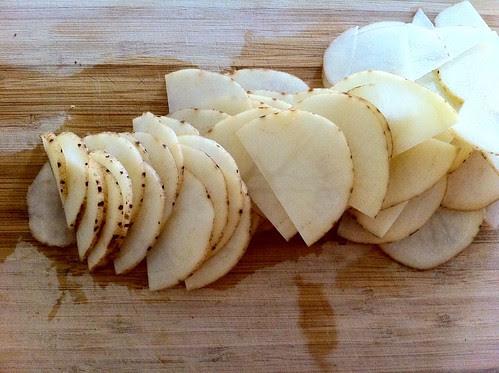 Very Thinly Sliced 1/2 Potato