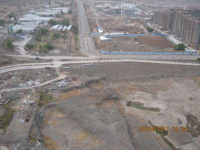 Ramp of Sangria Towers at Megapolis Hinjewadi Phase 3, Pune