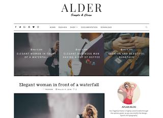 Alder Clean Blogger Template