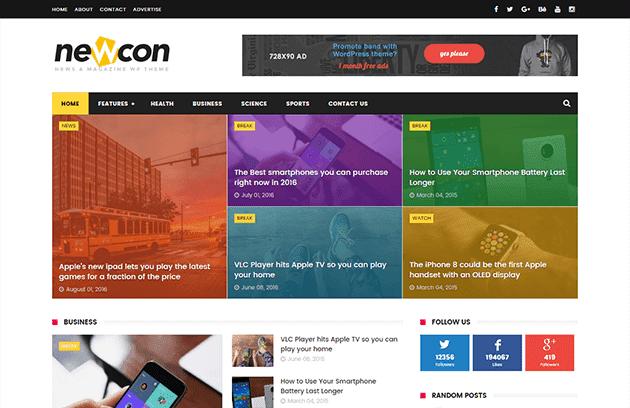 Newcon News/Magazine Responsive Blogger Template