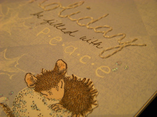 House Mouse Stitching Challenge Close Up