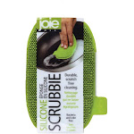 Joie Scratch-Free Antibacterial Odor-Free Flexible Silicone Kitchen Dish Scrubbie Single Pack / Green