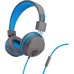 JLab Audio - JBuddies Studio Wired Over-the-Ear Headphones - Gray/Blue