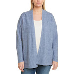 Eileen Fisher Womens Plus Straight Linen Cardigan, 2X, Blue