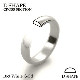 Handmade Mens 18ct White Gold 4mm D Shape Wedding Ring