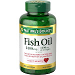 Nature's Bounty Fish Oil 2400 Mg Double Strength Odorless-90 Softgels