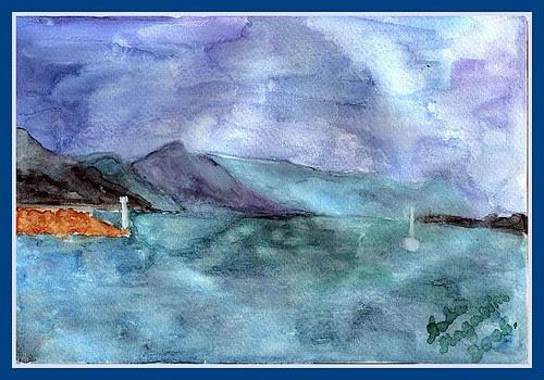 pogled put Omiša - u koluri indiga by XVII iz Splita