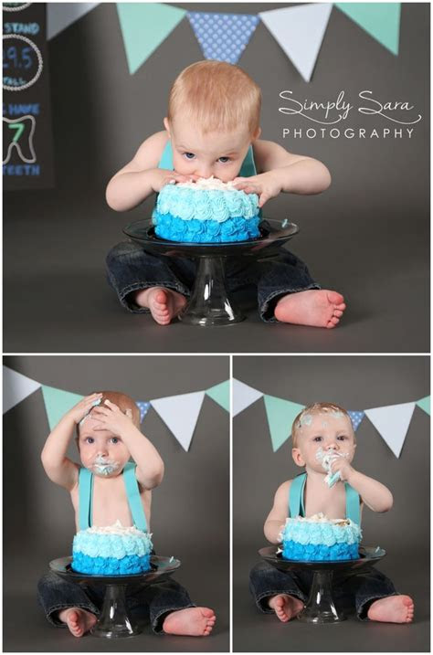 year  boy photo shoot ideas poses cake smash