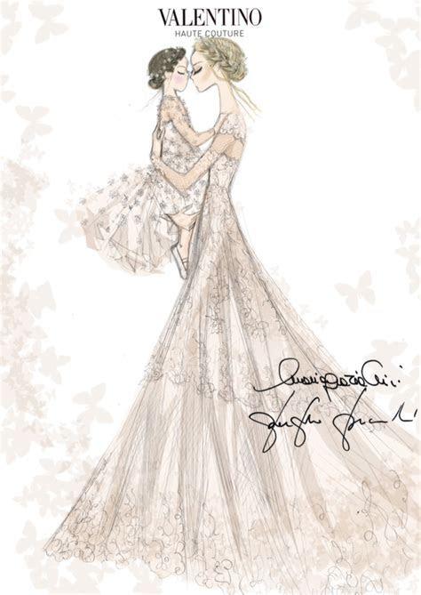 Frida Giannini Wedding Dress Sketch