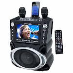 Jskaraoke Gf830 Black Karaoke Player Dve Cd Mp3 With 7 Inch