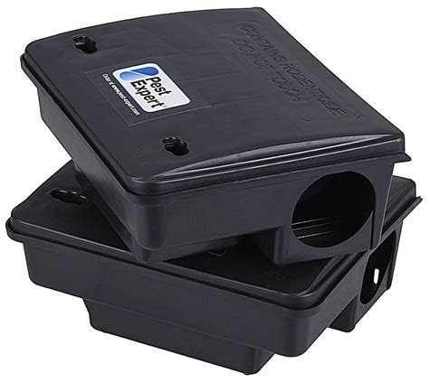 Pest Expert Rat Poison Bait Boxes Heavy Duty with Locking Mechanism x2