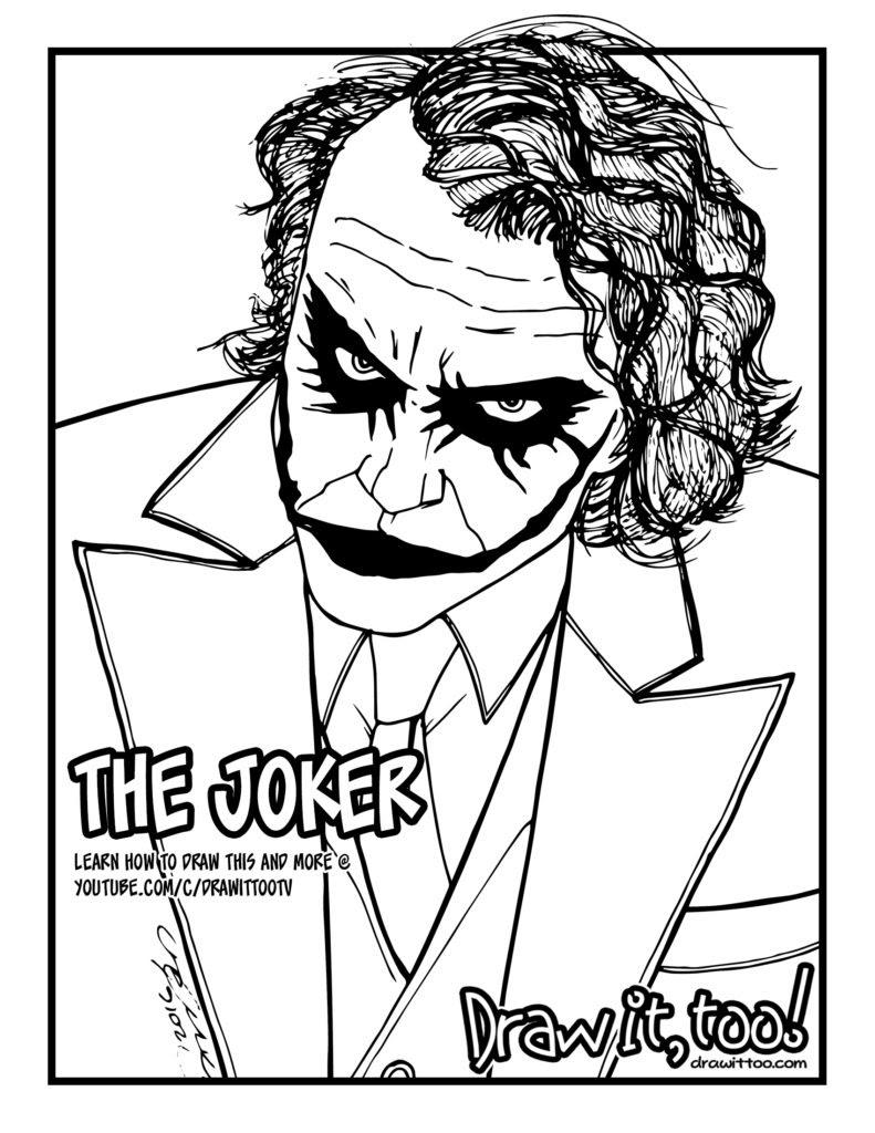 The Joker (The Dark Knight) | Draw it, Too!