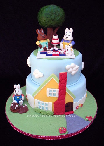 Max and Ruby tea party cake
