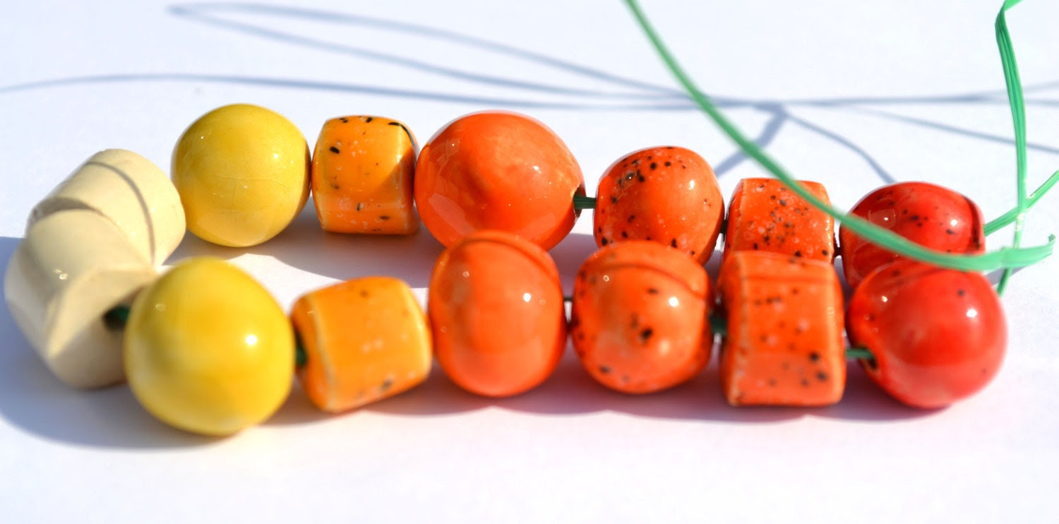Candycolors Handmade Ceramic Beads in Various Shapes - KaysCreaCorner