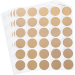 Scratch-Off Stickers - 510-Pack Round Sticker Labels, Self-Adhesive Peel and Stick DIY Circle Labels for Wedding Games, Fundraisers, Promotions, Gold,