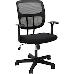 OFM Essentials Series Mesh Office Chair - Black