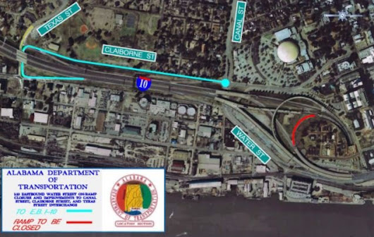 ALDOT to close Water Street on-ramp Thursday