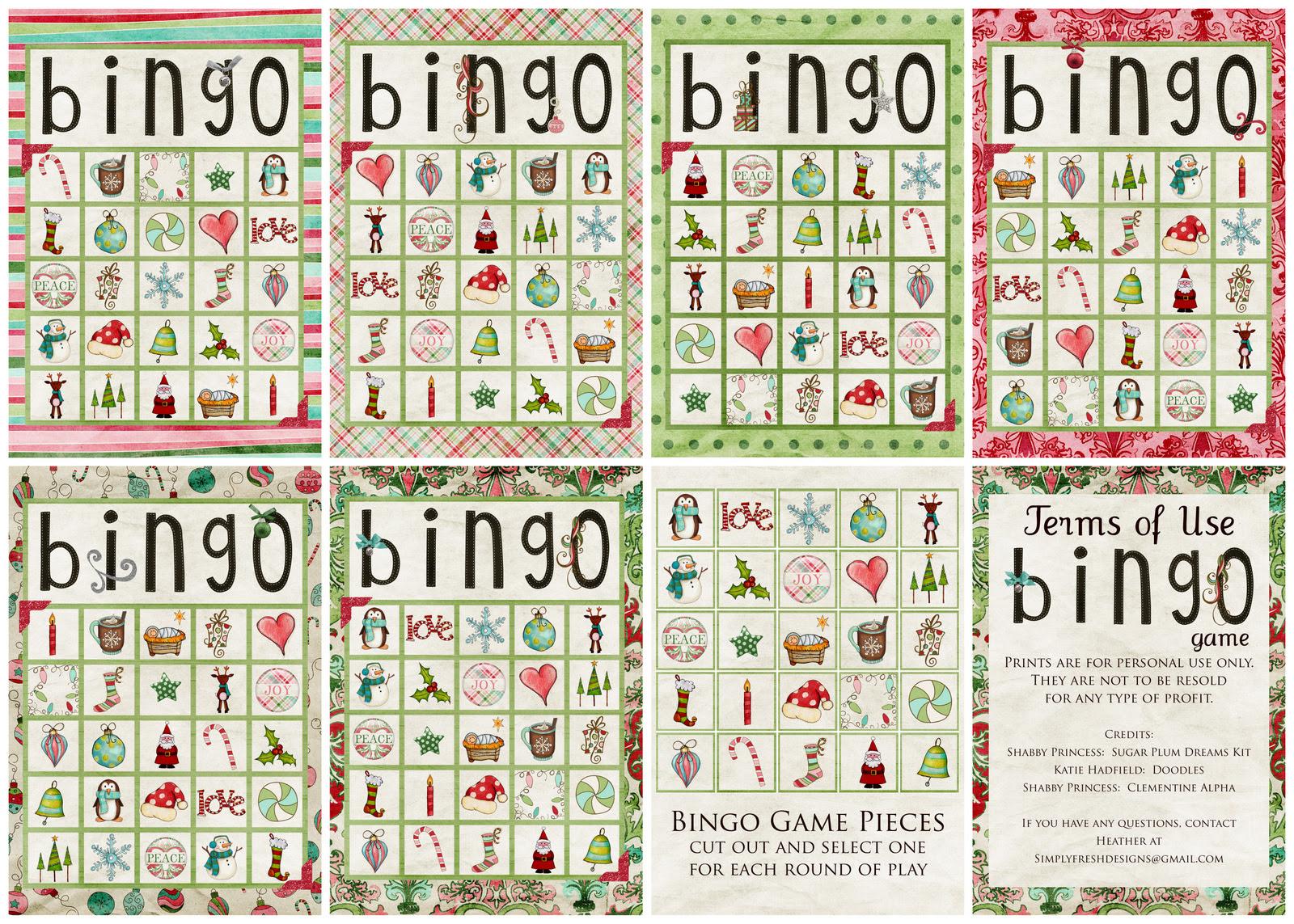 Bingo card print