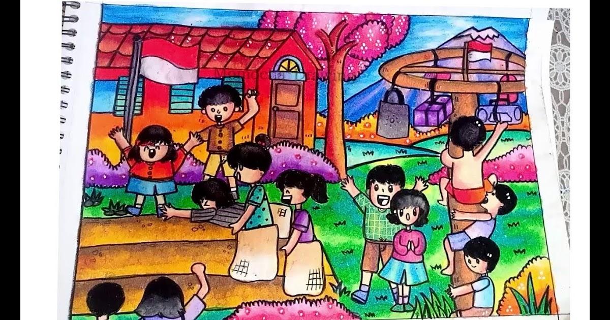 Gambar Ilustrasi Tema Kemerdekaan Indonesia 174 Contoh Gambar Ilustrasi Tema Kemerdekaan Gambarilus