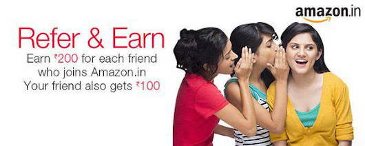 Amazon Free Gift Card Credit – Refer & Earn 200 Rupees