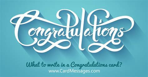 What to Write in a Congratulations Card?   Card Messages