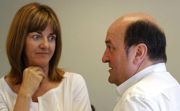 Idoia Mendia y Andoni Ortuzar, líderes de PSE y PNV/EFE