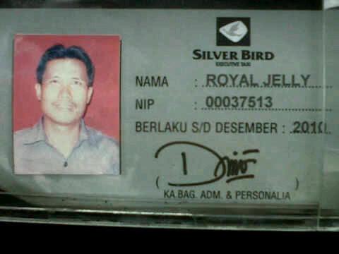Royal Jelly itu bernama Supir Taksi !