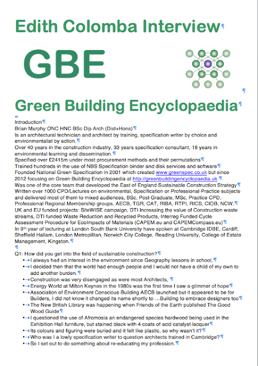 GBE Sustainable Refurbishment (Interview) G#15281 - Green Building Encyclopaedia