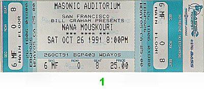 Nana Mouskouri1990s Ticket