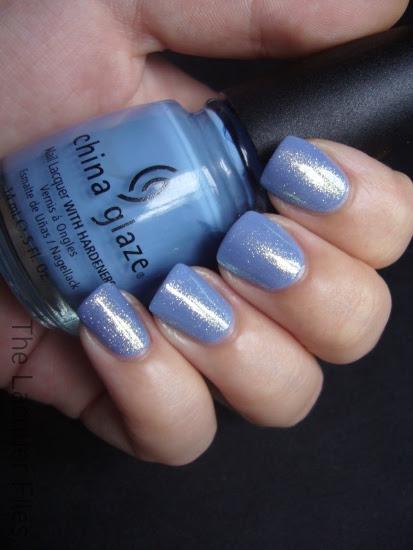 U.M.A. United Makeup Artists Arctic Blue layered over China Glaze Secret Peri-Wink-Le