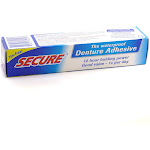 Secure Waterproof Denture Adhesive Cream - 1.4 oz box