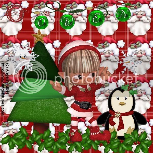 Elves,Santa,Penguins,Happy Holidays,Kids Tags