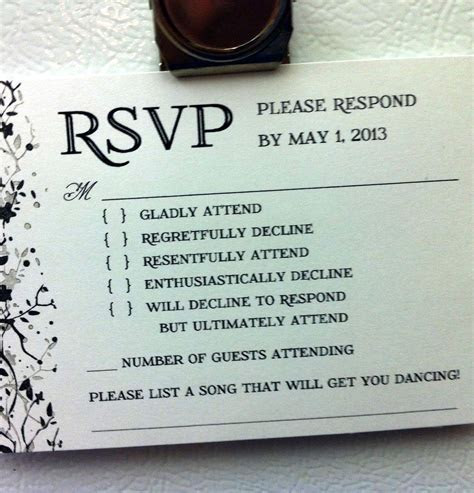 funny wedding invitations   The brutal honesty of it is