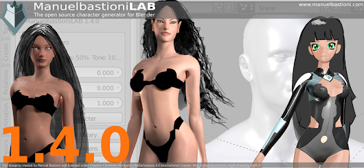 ManuelbastioniLAB 1.4.0 adds new templates and optimizations - BlenderNation