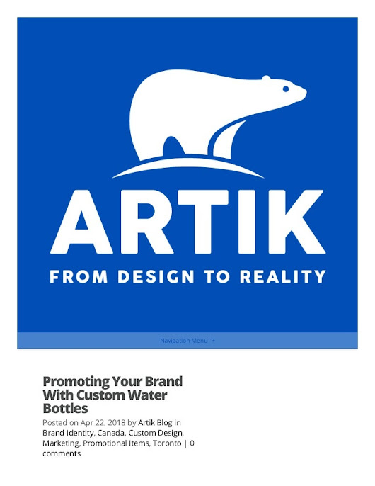 Promoting your brand with custom water bottles - Artik.com
