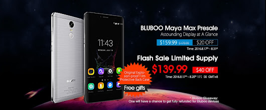 Bluboo Maya Max available in the global presales on August 17th at $159.99 • GizmoGeek.xyz