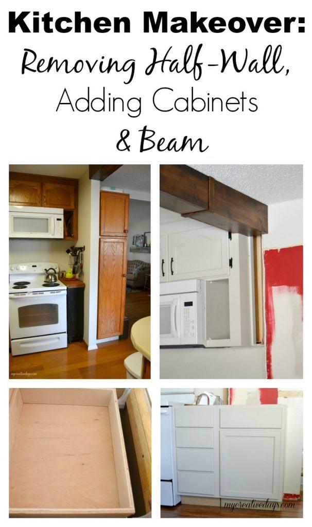Kitchen Makeover 2015: Remove Half-Wall, Extend Beam & Add ...